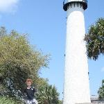 The lighthouse has a tour and you can climb up to the top.