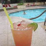 Happy hour every day poolside 3-6pm - $5 cocktails