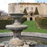 Fountain outside Chateau