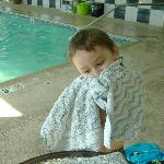  my nephew loves the pool