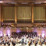 The Boston Pops Orchestra making beautiful music.