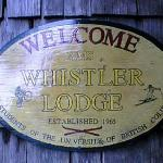 Whistler Lodge - Welcome Sign
