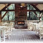 Pavilion offers a wood burning gathering place