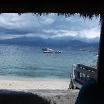 By the beach on Gili T