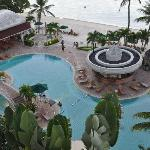 a partial view of the hotel's pool