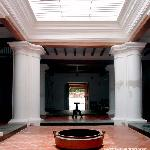 a view of traditional Tamil architecture..