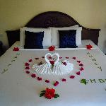 Romantic bed - welcoming