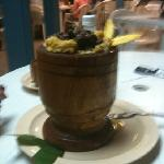 Trifongo with churrasco. So delicious!
