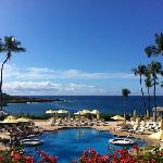four seasons lanai at manele bay pool deck and ocean view