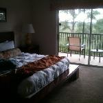master bedroom and screened patio
