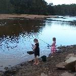 girls loving the fishing