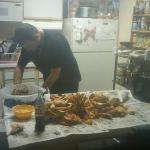 me having a little crab boil in our room :)