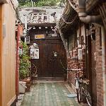 The Sophia Guest House is located in this alley surrounded by other traditional houses