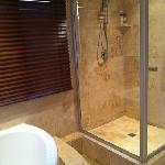 shower in addition to spa style tub