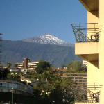 View of Mount Teide from balcony
