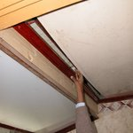 500 mm wide opening in the bathroom ceiling