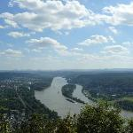  Ausblick vom Drachenfels ber den Rhein