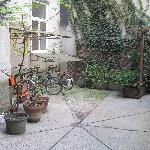 The enclosed courtyard outside our apartment