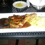 Veal chop with Cab reduction with pasta.  House Special 34.99
