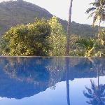 Brook Boutique hotel hilltop pool.