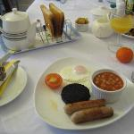 Wonderful cooked breakfast...notice my Easter treat on the left hand side of the photo :-)