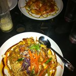  Picture- Pineapple smoothie, Sweet and Sour Shrimp and Pad Thai