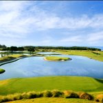 Pete Dye's signature Island Green at The Black Pearl Golf Course (11th Hole)