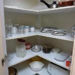 Kitchen crockery and utensils