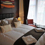 Room 14, one of our best rooms and now the BEST.  A King size double bed with luxury toiletries