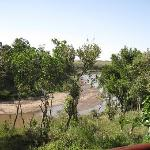 View of the river from the bar