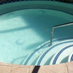 The oversized 20-person hottub... Emphasis on HOT!  :)