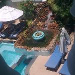 Swimming pool view from our room