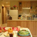  New, hand-crafted cottages have wood interiors, fireplaces, full kitchens, covered patios, TV-DV