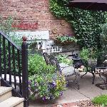  Guests enjoy the fragrances as they sit or read in the magic herb garden at MoonStruck Manor Bed
