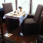 Window table in the breakfast room