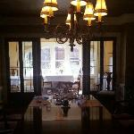 Breakfast is served in the dining room or in the breakfast nook.