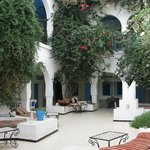  The bougainvillea filled courtyard