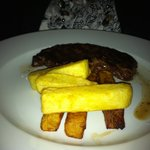 Sirloin Steak and Chips.