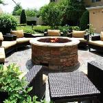 Share stories and spirits with friends, family, or colleagues by the glowing fire pit located in
