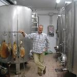  Davide in Winery with prosciutto