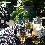  Wine glasses in the sunshine