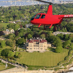 Bird's Eye View Helicopter over the Breakers