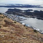 Kodiak City from Top of Pillar Mountain - Wind Turbines