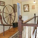 Spinning wheel and historic photos