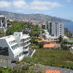 funchal town from balcony