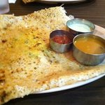 Rava Masala Dosa with green chili