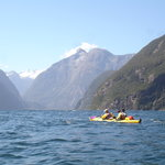 Kayaking between the fiords