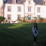Katie in the Chateau grounds