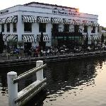 Restaurant and patio on the canal