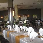 Resturant, prepared for a wedding